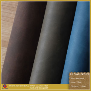 Wax Polished PU Leather (S064) pictures & photos
