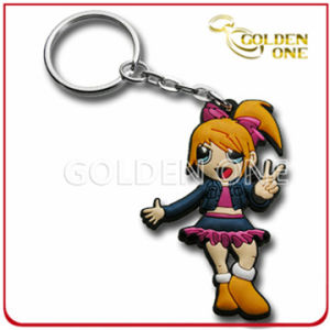 Fashion Style Embossed Printing Soft PVC Keychain pictures & photos
