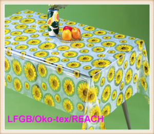 New Design PVC Transparent and Embossed Tablecloth Factory (TJ3D0004) pictures & photos