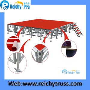 Red Stage Board Moving Stage Aluminum Stage Outdoor Stage pictures & photos