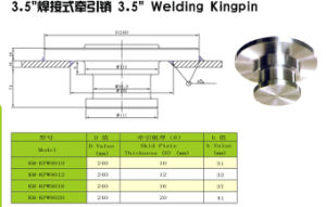 3.5′′ Welding Kingpin pictures & photos