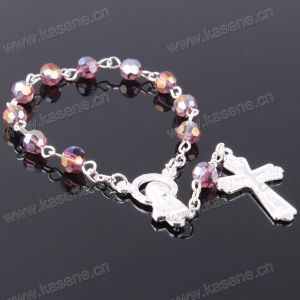 Multicolour 6mm Angle Crystal Bead Fashion Religious Bracelet