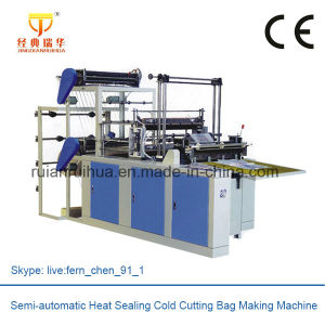 Double Decker Plastic Polythene Bag Making Machine pictures & photos