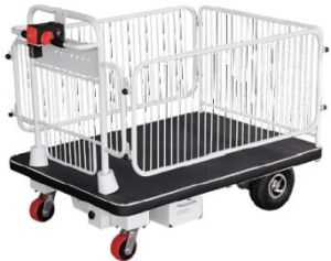 Electric Platform Trolley with Fence (HG-1100) pictures & photos