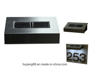 Fq-531 Cheap Solar Powered LED Doorplate Light pictures & photos