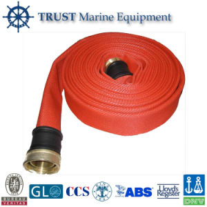 Solas Approved Red Polyester Filament Layflat Fire Hose pictures & photos