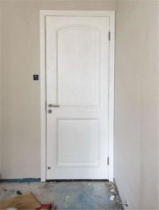 White Color Modern Interior Wooden Door Bedrood Door with Steel Security pictures & photos