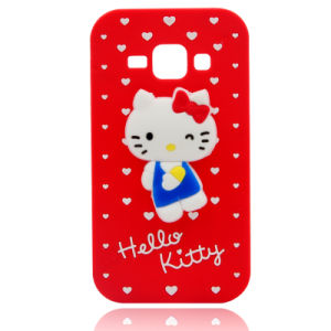Hello Kitty Silicone Phone Case for iPhone 6 7 7plus Samsung J5 J7 Cell Phone Accessories (XSK-002)