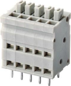 Screwless/PCB Spring Terminal Block Connector 300V/10A (WJ211V-5.0) pictures & photos