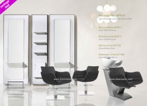 Mirror Station, Styling Chair, Shampoo Chair, Washing Chair, Mirror Station, Salon Mirror, Hydraulic Chair (Package NP819)