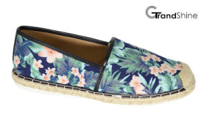 Women′s Casual Espadrille Printed Fabric Flat Shoes pictures & photos