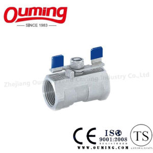 1PC Stainless Steel Threaded Ball Valve with Butterfly Handle pictures & photos