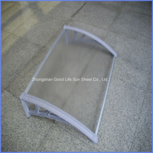 Polycarbonate Window Rain Cover with Aluminium or Alloy Plastic Bracket pictures & photos