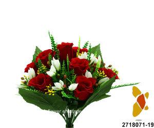 Artificial/Plastic/Silk Flower Velvet Rosebud Bush (2718071-19) pictures & photos