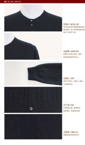 Gn1632 Knitted Yak/Merino Wool Long Sleeve Round Neck Cardigan Sweater for Spring and Autumn pictures & photos