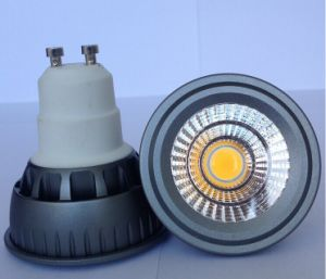 Dimmable 5W 220V 400lm COB LED GU10 Bulb pictures & photos