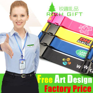 Promotion Custom Printing Single Face Nylon/Satin Lanyard for Gift pictures & photos