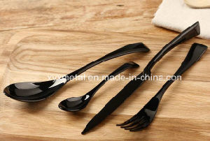 High Quality Back Golded Stainless Steel Spoon Knife Fork pictures & photos