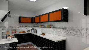Wood Furniture Nanometer Glass Modern Kitchen Cabinet (G003)