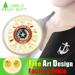 Safety Pin Metal 2D/3D Gold Lapel Pin Badge for Sale pictures & photos