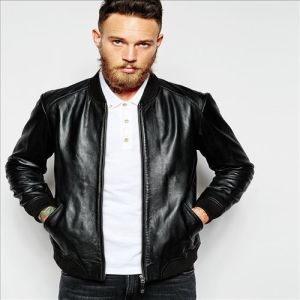 2016 Men′ S Hot Sale Cool Leather Bomber Jacket pictures & photos