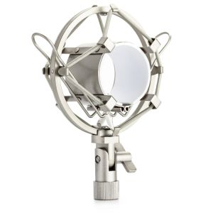 T-4 (silver) Ideal for Radio Broadcasting Studio / Voice-Over / Sound Studio / Recording (Silver) Universal Metal Microphone Shock Mount pictures & photos