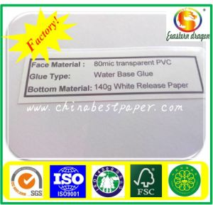80mic tranparent PVC Sticker pictures & photos