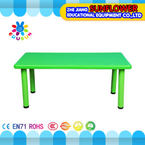 Green Plastic Student Table for Kindergarten (XYH-0010) pictures & photos