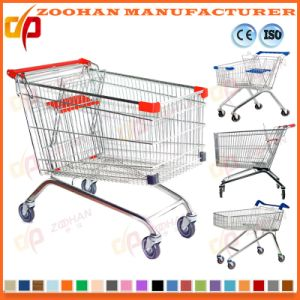 Durable Chrome or Zinc Supermarket Shopping Cart Trolley (Zht137) pictures & photos
