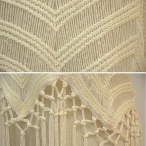 Women Folk Srriped Knitted Slip Vest with Fringe Hem pictures & photos
