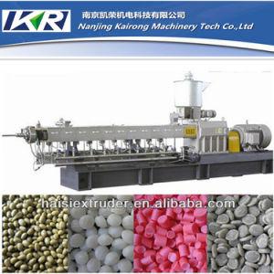 Nanjing Plastic Granules Pelletizing Twin Screw Plastic Extruder Machine Price pictures & photos