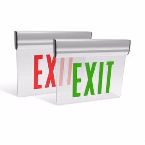 Running Man Emergency Double Sided 2W 3W UL LED Edge Lit Exit Sign with Rigid Aluminum Housing pictures & photos