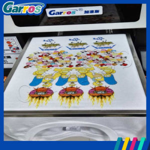 Garros Easy Operation Flatbed Pigment Ink Cotton T Shirt Printer DTG pictures & photos