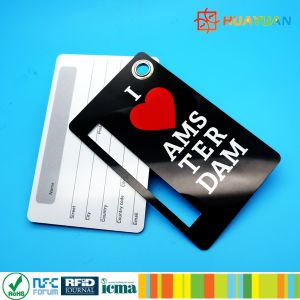 Custom Logo luggage management Plastic Luggage Key Tags with plastic rope pictures & photos