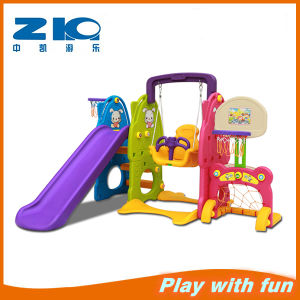 Combo Plastic Slide and Swing Set pictures & photos