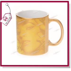 Promotional Gift 11oz Sublimation Golden Mug pictures & photos