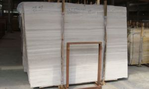 Chinese White Wooden Marble Slab for Sales pictures & photos
