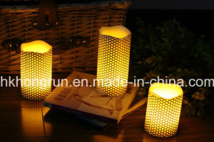 Set of 3 Wax LED Candle in Melt Edge (HR94)