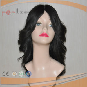 Layers Human Hair Skin Top Black Color Charming Hand Tied Full Lace Wig pictures & photos