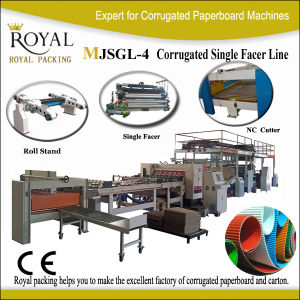 Corrugated Paper Produce Machine 2-Layer Single Facer Corrugated Kutu Machine Mjsgl-4 pictures & photos
