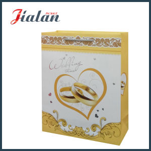 Matte Lamination Custom PP Knots Logo Printed Classical Paper Bag pictures & photos