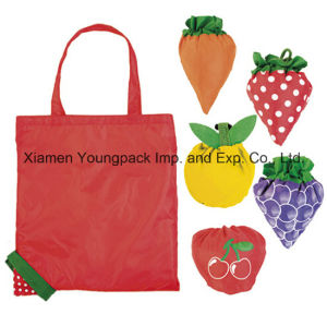 Promotional Custom Printed Reusable Nylon Foldable Shopping Tote Bag Into Pouch pictures & photos