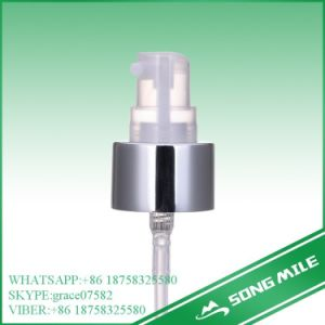 24/410 Sliver Cream Pump for Cosmetic with Big Overcap pictures & photos