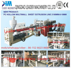 Plastic Machinery Polycarbonate PC Hollow Grid Sheet Extrusion Machine pictures & photos