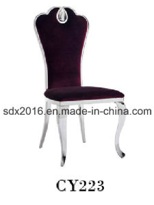Home Furniture Dining Room Stainless Steelwedding Fabric Dining Chair pictures & photos
