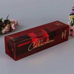 Custom Printed Plastic Paper Box with PVC Window (wine box) pictures & photos