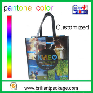 Customized PP Woven Laminated Tote Bag Shopping Bag pictures & photos
