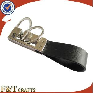 Newest Promotional Souvenir Gift Custom Laser Logo Metal Leather Keychain pictures & photos