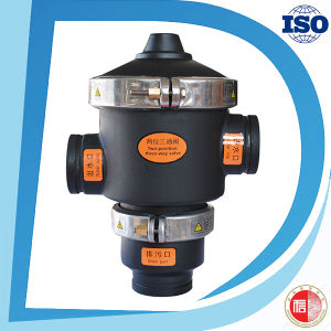 Water Treatment Industrial Plastic Material Irrigation Drain Three Way Valve pictures & photos