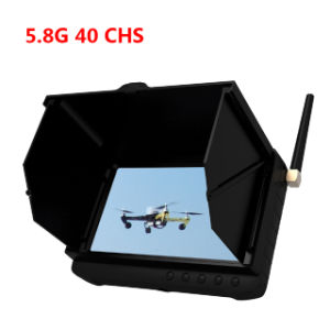 "5"" LCD Screen 5.8GHz Wireless 40 Chs Mini Fpv DVR Recorder with Smart Sun Shield pictures & photos"